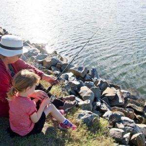 Fishing Erlebnis mit Mutter Tochter Oma